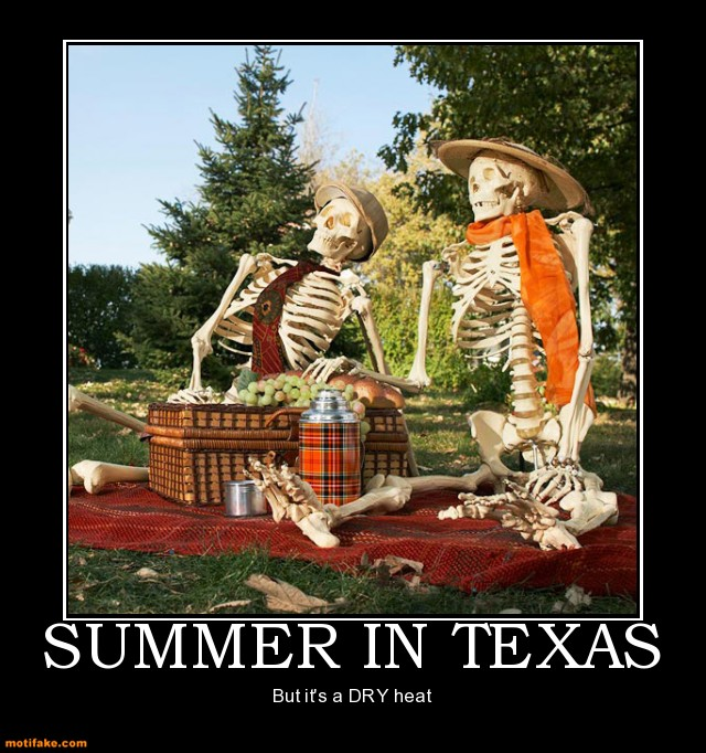 Summer heat in Texas